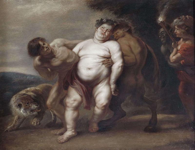 Drunken Silenus. Peter Paul Rubens (Manner of)