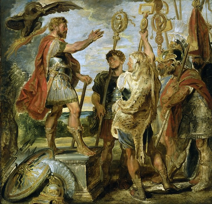 Decius Mus Addressing the Legions - 1616. Peter Paul Rubens