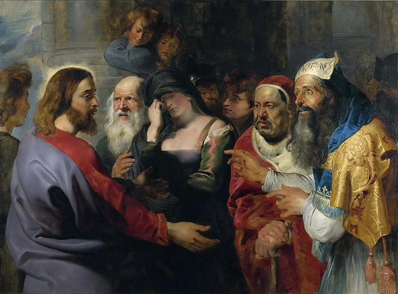 Peter Paul Rubens -- Le Christ et la femme adultère. Peter Paul Rubens