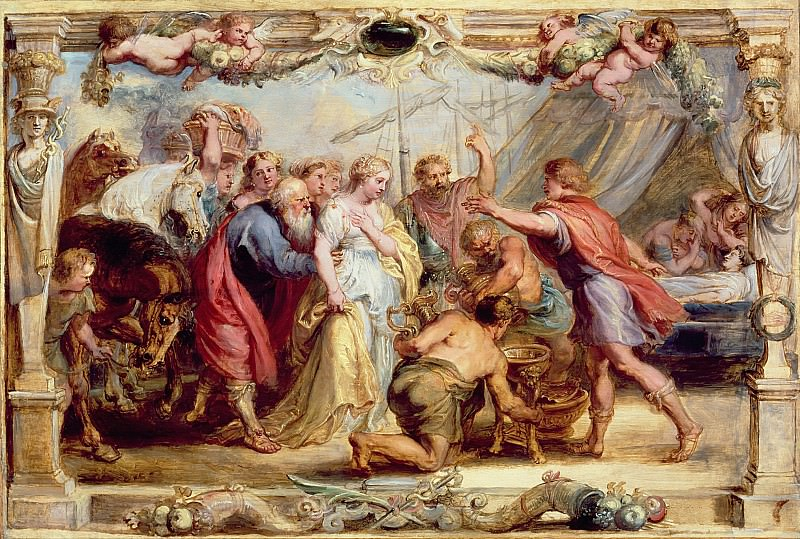 Возвращение Брисеиды к Ахиллесу. Peter Paul Rubens