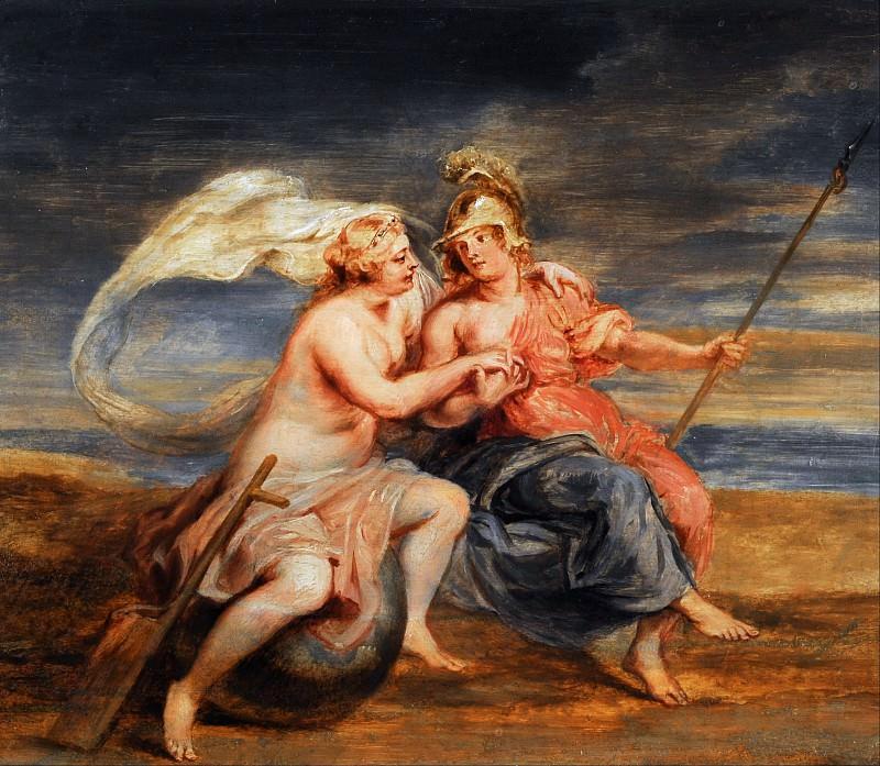 RUBENS, Pieter Paul -- Alegoría de la Fortuna y la Virtud,. Peter Paul Rubens