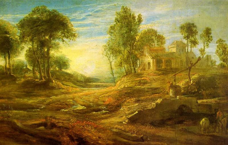 Landscape with a Watering Place. Peter Paul Rubens