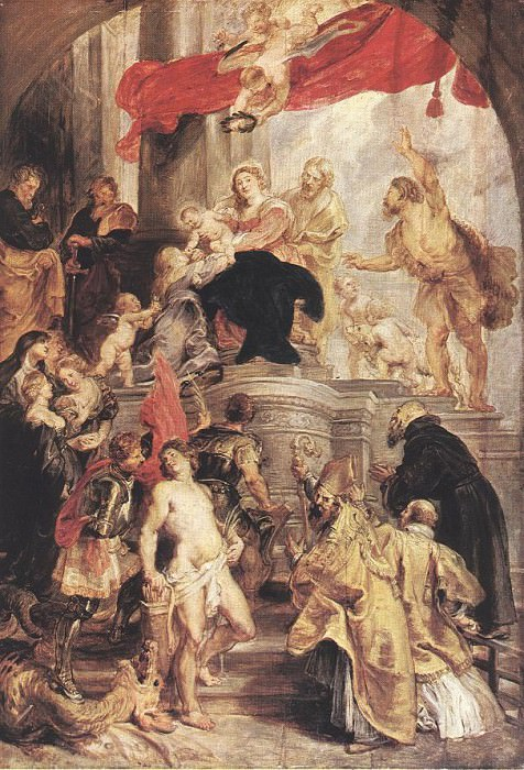 Bethrotal of St Catherine (sketch) - 1628. Peter Paul Rubens