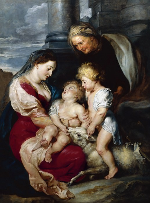 The Virgin and Child with St Elizabeth and the Infant St John the Baptist - 1615. Peter Paul Rubens