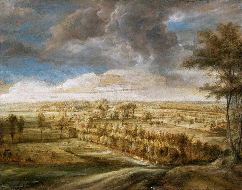 Landscape with an Avenue of Trees. Peter Paul Rubens