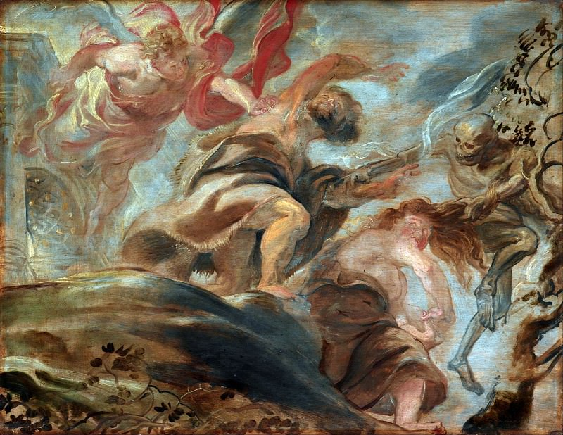 Expulsion from the Garden of Eden -- 1620. Peter Paul Rubens