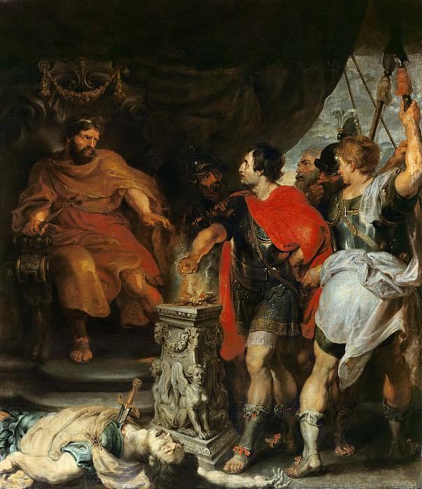 Гай Муций Сцевола и этрусский царь Порсена. Peter Paul Rubens