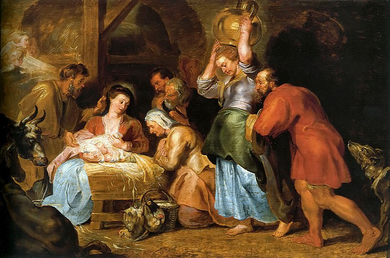Adoration of the Shepherds. Peter Paul Rubens