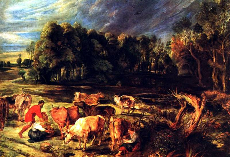 Landscape with Cows. Peter Paul Rubens