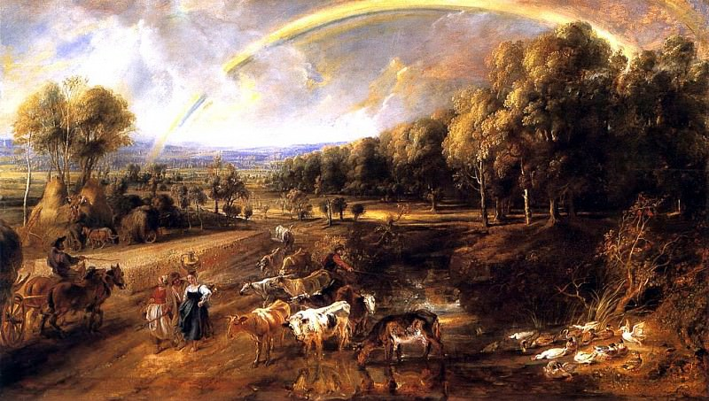 Landscape with a Rainbow - ок 1638. Peter Paul Rubens