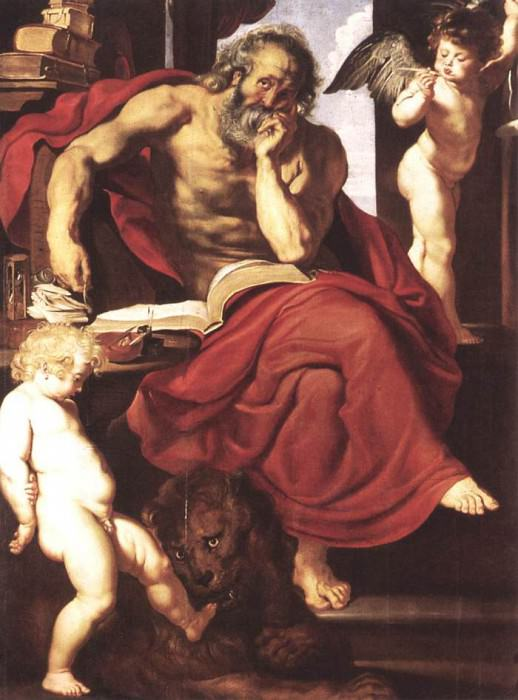 St Jerome in His Hermitage - 1608 - 1609. Peter Paul Rubens