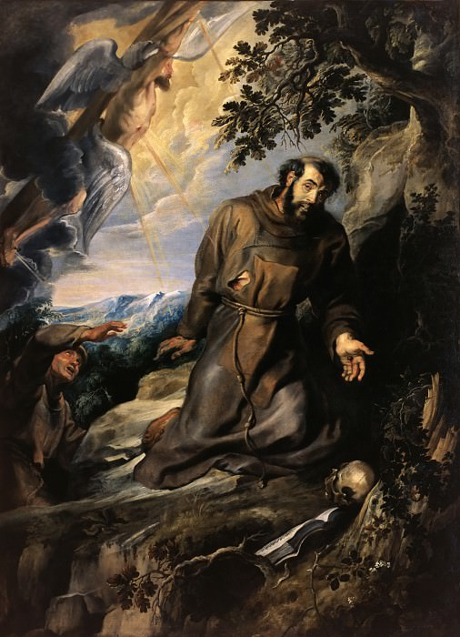 St Francis of Assisi Receiving the Stigmata - 1635. Peter Paul Rubens
