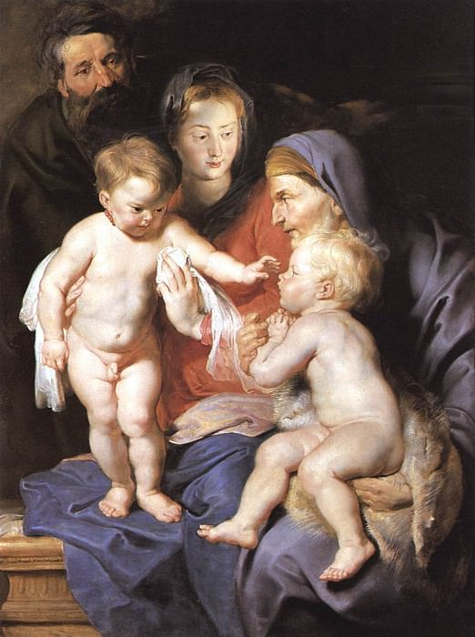 The Holy Family with Sts Elizabeth and John the Baptist - 1614. Peter Paul Rubens