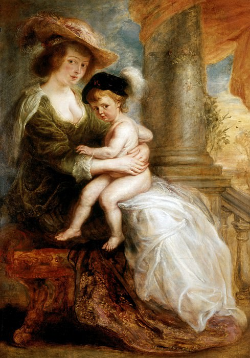 Helena Fourment with her Son Francis - 1635. Peter Paul Rubens