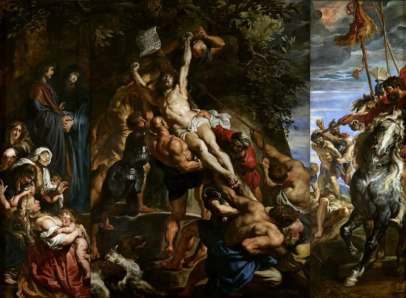 Raising of the Cross - 1610. Peter Paul Rubens
