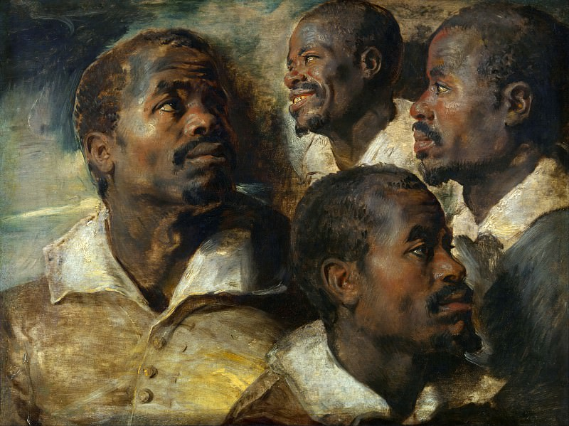Four Studies of the Head of a Negro. Peter Paul Rubens