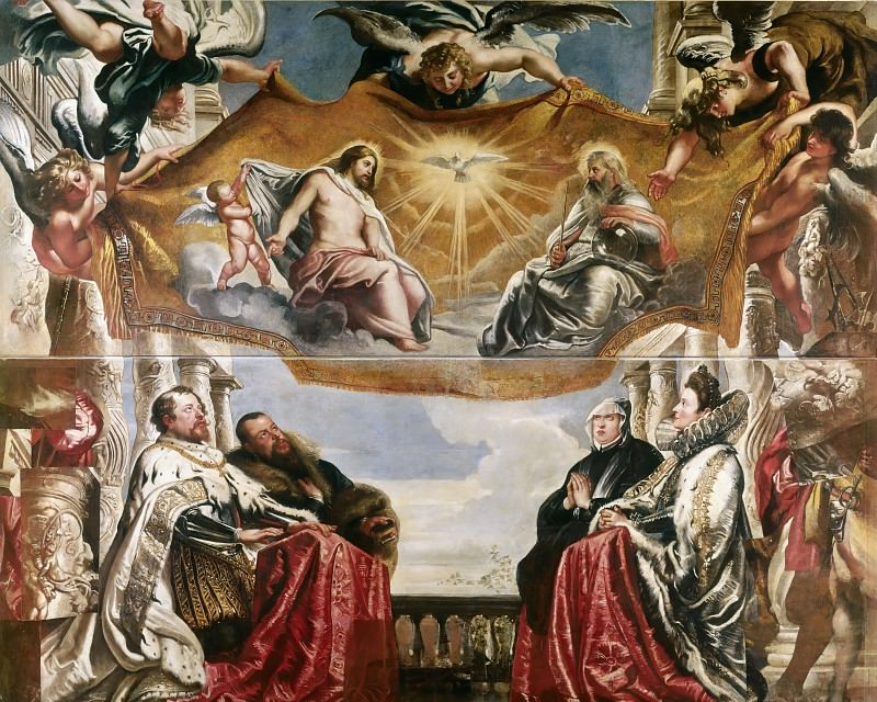 Rubens The Trinity Adored By The Duke Of Mantua And His Family. Peter Paul Rubens