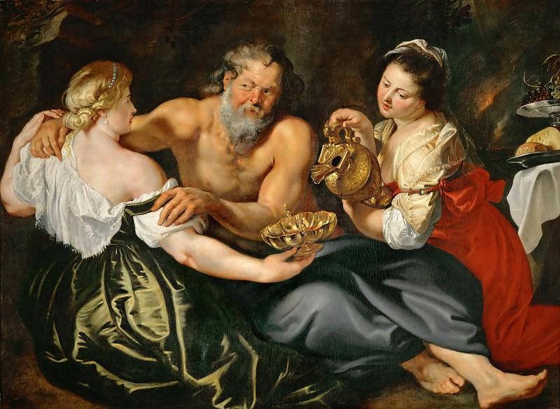 Лот с дочерьми. Питер Пауль Рубенс