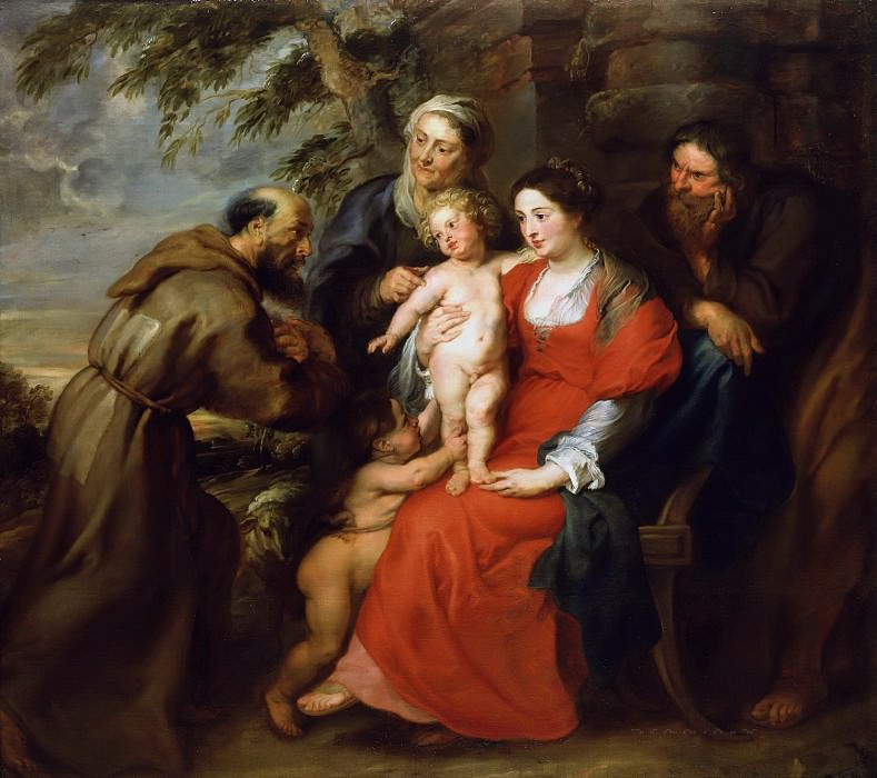 The Holy Family with Saint Francis. Peter Paul Rubens