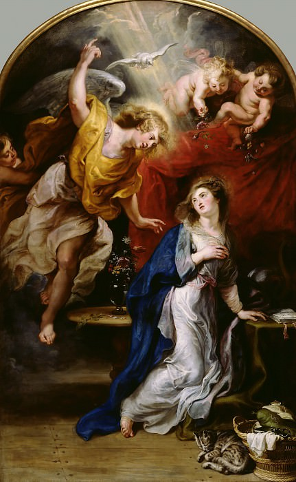 Rubens Annunciation c1628. Peter Paul Rubens
