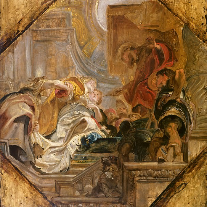 Esther before Ahasuerus --. Peter Paul Rubens