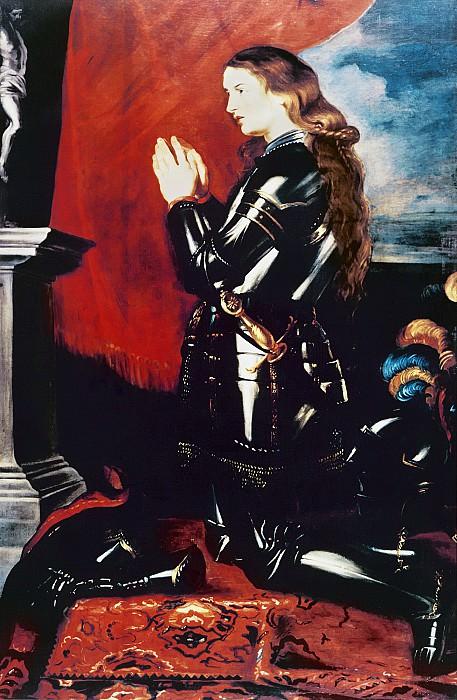 Молящаяся Жанна Дарк. Peter Paul Rubens