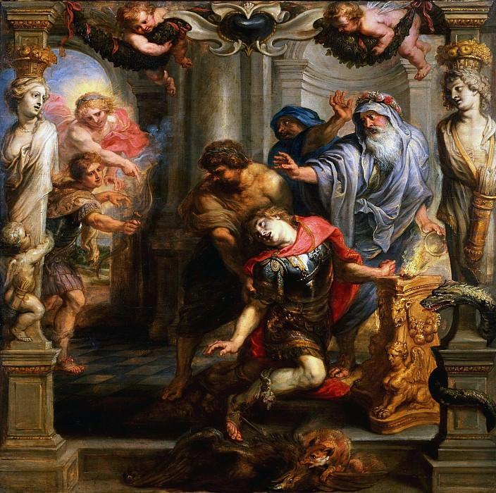 Death of Achilles. Peter Paul Rubens