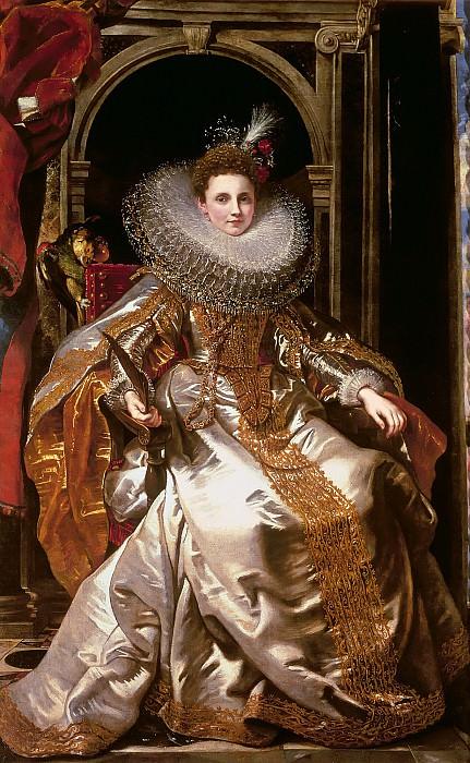 Portrait of Maria Serra Pallavicino - 1606. Peter Paul Rubens