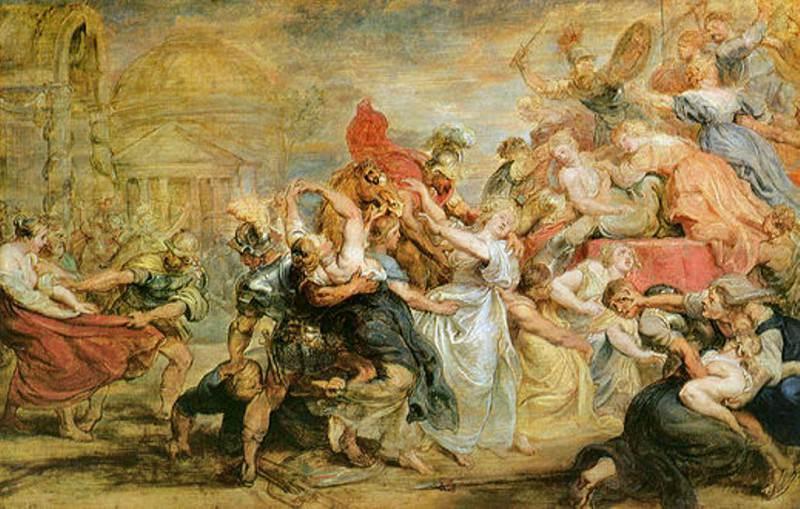 Похищение сабинянок, эскиз. Питер Пауль Рубенс