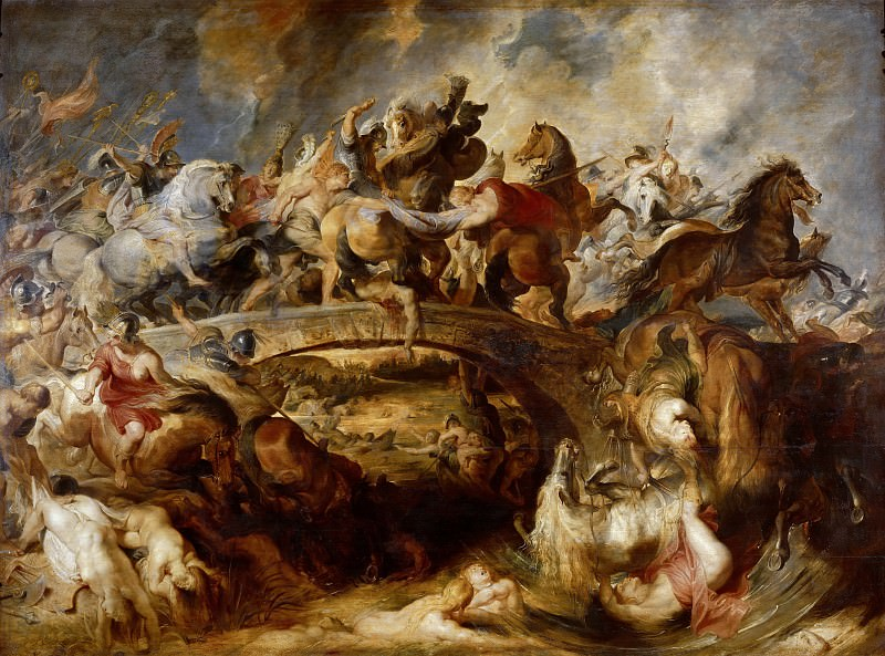 Battle of the Amazons. Peter Paul Rubens