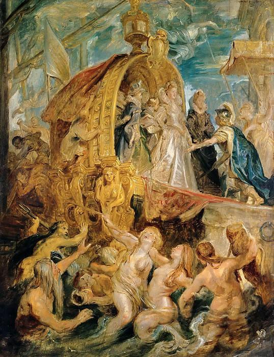 Marie de Medici in the Harbour of Marseille. Peter Paul Rubens