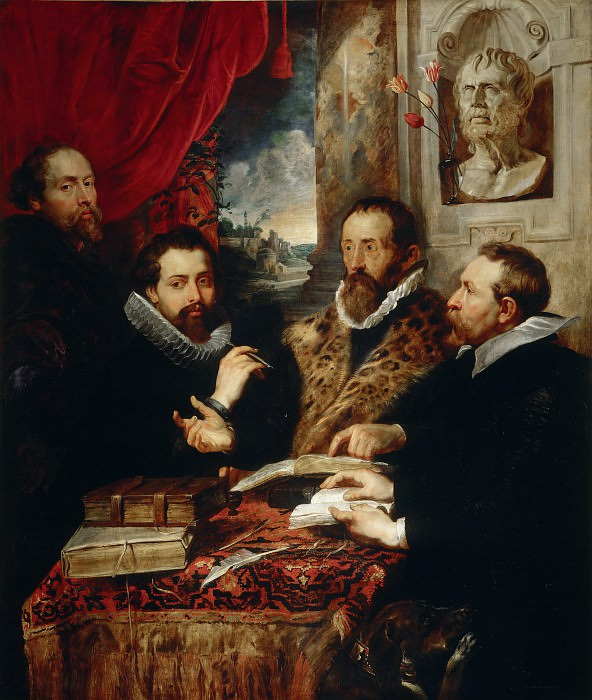 Selfportrait with brother Philipp, Justus Lipsius and another scholar - 1611. Peter Paul Rubens