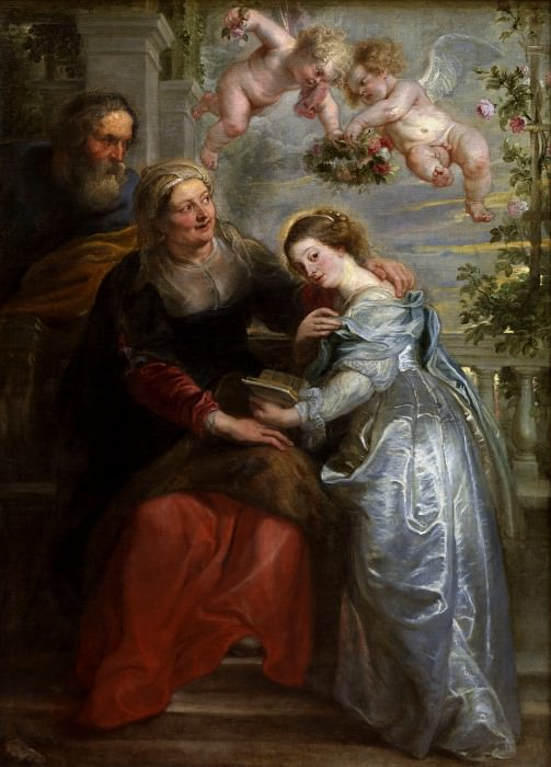 The Education of the Virgin - 1625 - 1626. Peter Paul Rubens