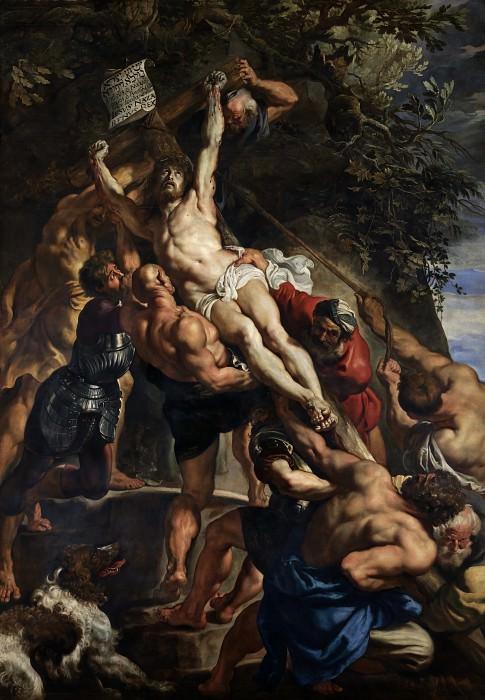Raising of the Cross (detail) - 1610. Peter Paul Rubens