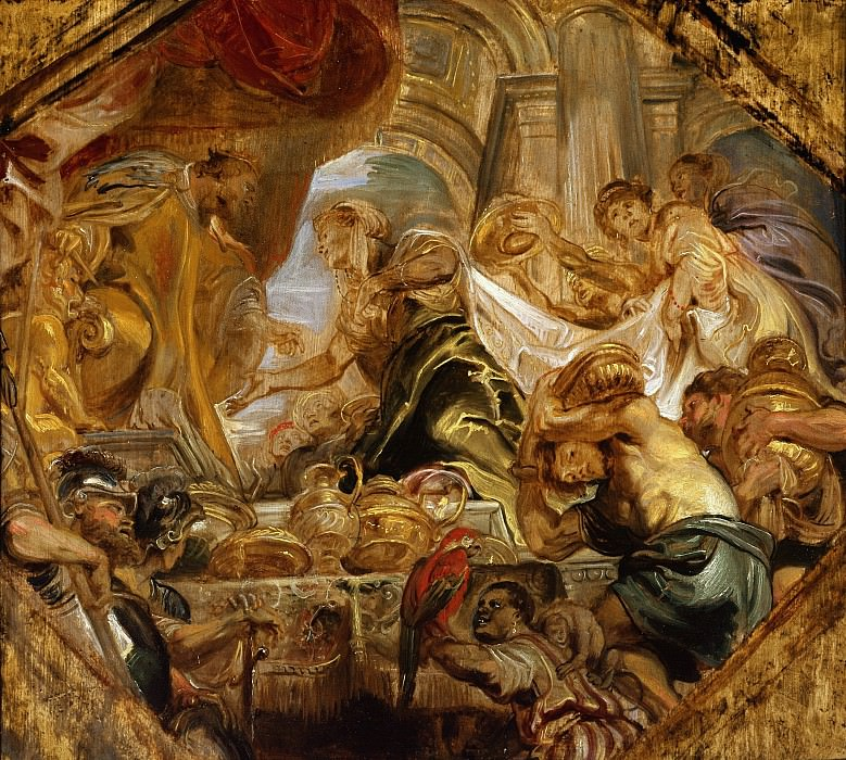 King Solomon and the Queen of Sheba - 1620. Peter Paul Rubens