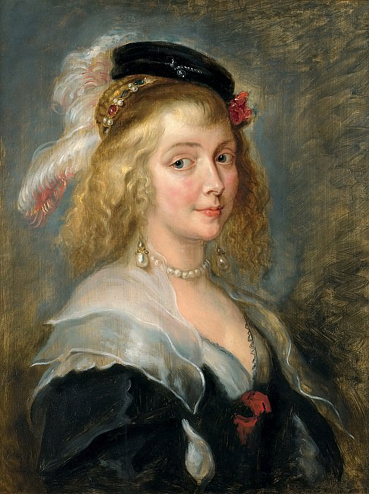 Portrait of Helena Forment, second wife of the artist - 1630. Peter Paul Rubens