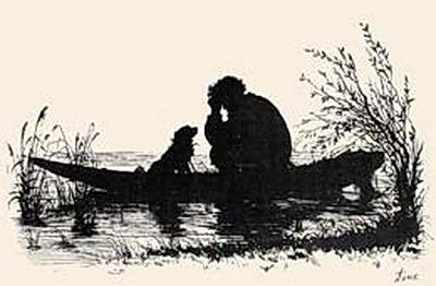 silhouette to feature stories. Turgenevs Mumu. Elizabeth Merkuryevna Boehm (Endaurova)