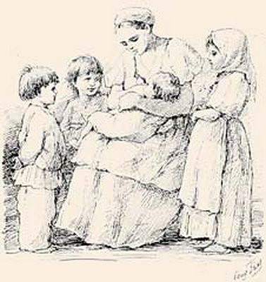 Fig. to the book. From the village of memories, 1882. Elizabeth Merkuryevna Boehm (Endaurova)