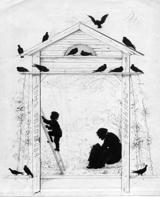 Silhouette Oblomovs Dream. Elizabeth Merkuryevna Boehm (Endaurova)