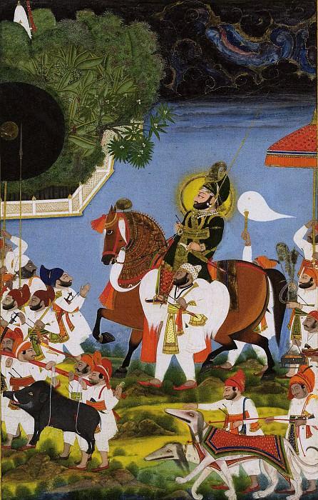 Chokha - Maharana Bhim Singh Returning from Hunting Boar. Metropolitan Museum: part 2