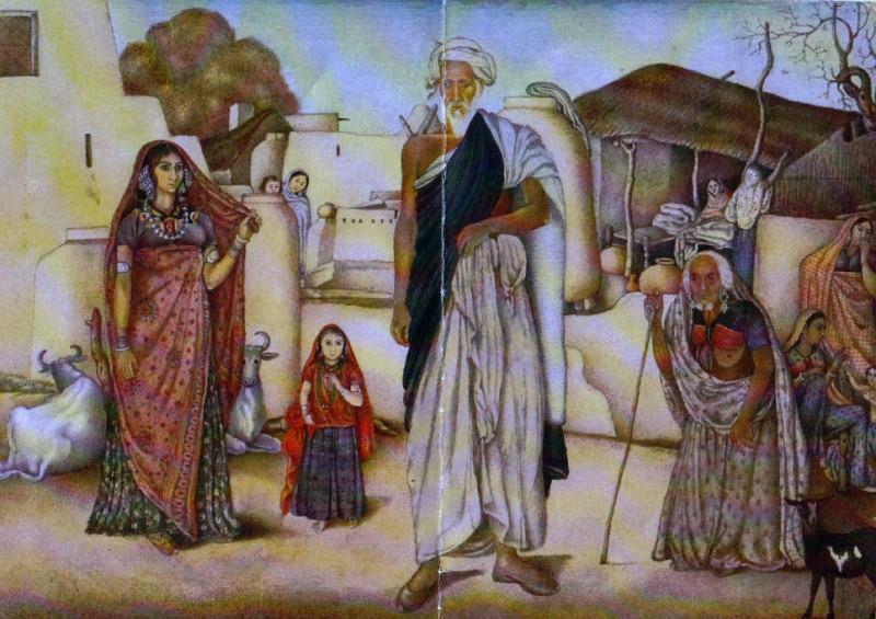 Master of the Company Portraits - Village Scene, Rania, Haryana. Metropolitan Museum: part 2