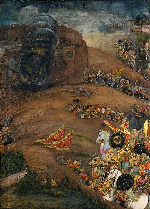 Payag - Nasiri Khan Directing the Siege of Qandahar, May 1631: Folio from the Windsor Padshahnama. Metropolitan Museum: part 2