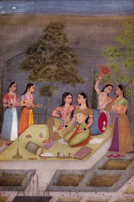 Ruknuddin - Ladies of the Zenana (Womens' Quarters) on a Terrace at Night. Metropolitan Museum: part 2
