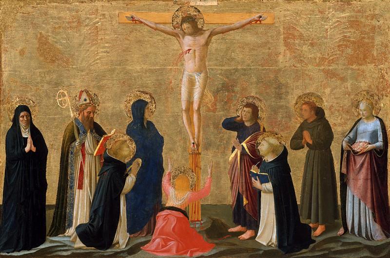 Fra Angelico (Italian, Vicchio di Mugello ca. 1395–1455 Rome) - The Crucifixion. Metropolitan Museum: part 2