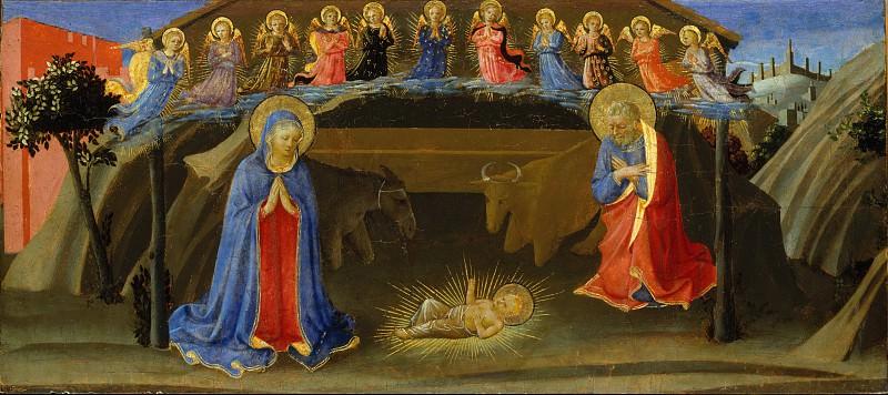 Attributed to Zanobi Strozzi - The Nativity. Metropolitan Museum: part 2