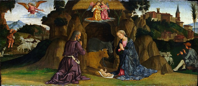 Antoniazzo Romano (Italian, Roman, active by 1452–died by 1512) - The Nativity. Metropolitan Museum: part 2