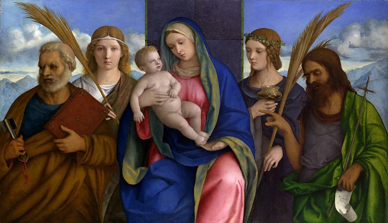Madonna and Child with Saints. Giovanni Bellini (and Workshop)
