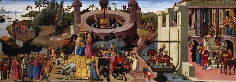 Biagio d'Antonio - Scenes from the Story of the Argonauts. Metropolitan Museum: part 2