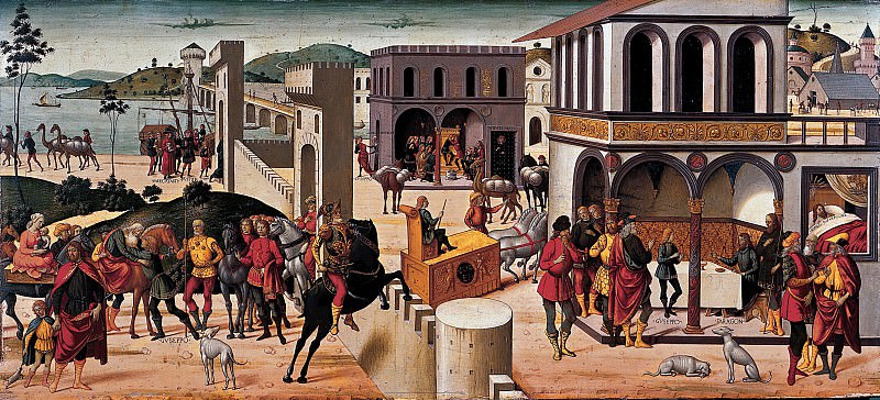 Biagio d'Antonio - The Story of Joseph. Metropolitan Museum: part 2