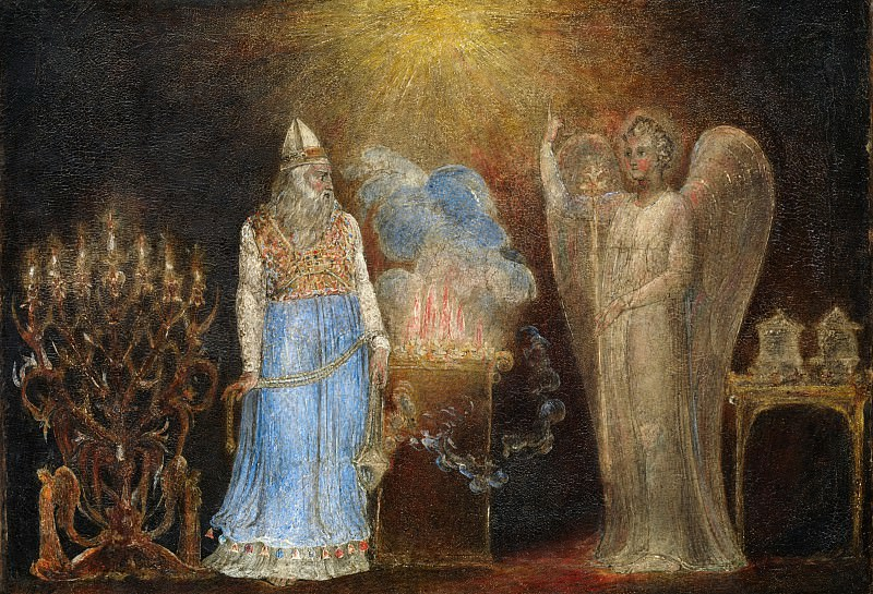 William Blake - The Angel Appearing to Zacharias. Metropolitan Museum: part 2